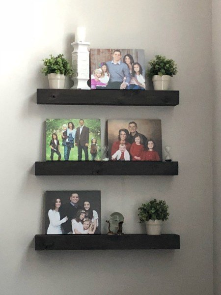 Easy affordable floating shelves